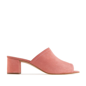 Mules aus Lachsfarbenem Velourleder - MADE in SPAIN -