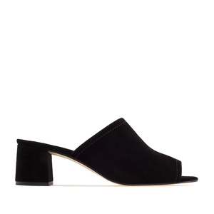 Mules aus Schwarzem Velourleder - MADE in SPAIN -