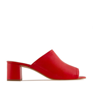 Mules aus Rotem Nappaleder - MADE in SPAIN -