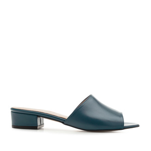 Mules aus blauem Nappaleder - MADE in SPAIN -