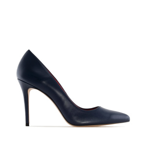 Heeled Shoes in Navy Nappa Leather