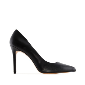 Heeled Shoes in Black Nappa Leather