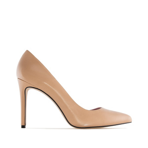 Heeled Shoes in Nude coloured Nappa Leather