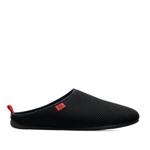 Pantofle síťovina, ve stylu dřeváků. Černé.