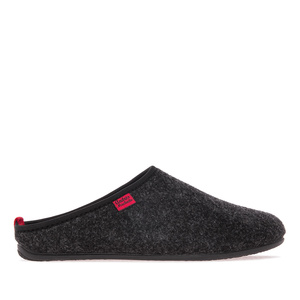 Unisex Black Felt Slippers