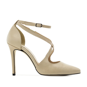 Stilettos in Beige Nappa Leather