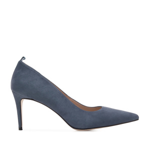 Stilettos in Blue Suede Leather