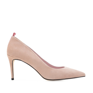 Stilettos in Light Rose Suede Leather