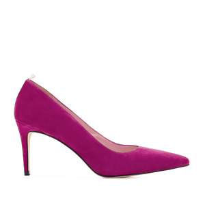 Stilettos in Dark Pink Suede Leather
