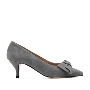 Stilettos in Grey Suede Leather