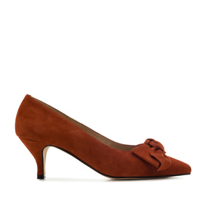 Stilettos in Brick Suede Leather