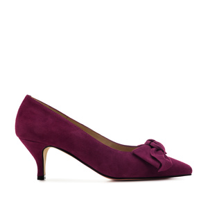 Stilettos in Purple Suede Leather