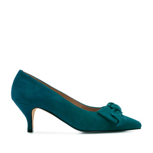 Stilettos in Deep Blue Suede Leather