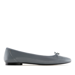 Ballet Flats in Grey Leather