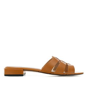Sandalias en piel de color Camel
