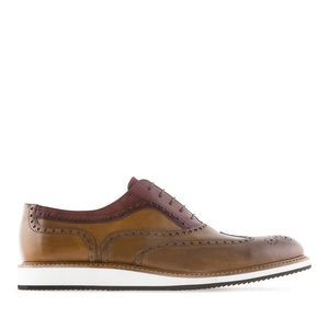 Chaussures Style Oxford en cuir bicolore