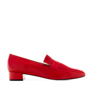 Loafers in Red Nappa Leather