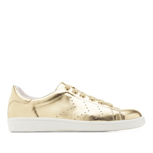 Trainers in Gold faux Leather