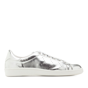 Trainers in Silver faux Leather