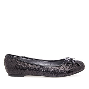 Bailarina Clasic Glitter Negro