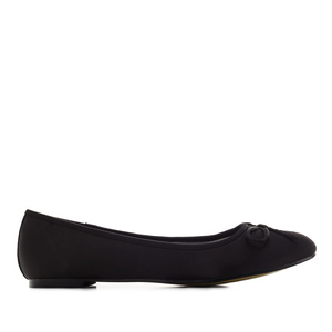 Classic Big Flat Ballerinas in Black Satin