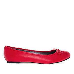 Klassische Ballerinas mit Schleife. Rot