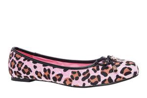 Bailarina piel Leopardo Rosa