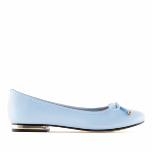 Sky Blue faux Leather Ballet Flats