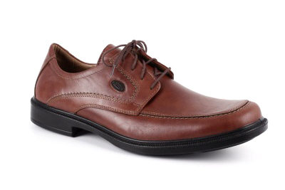 Kožne cipele na pertlanje, konjak boja