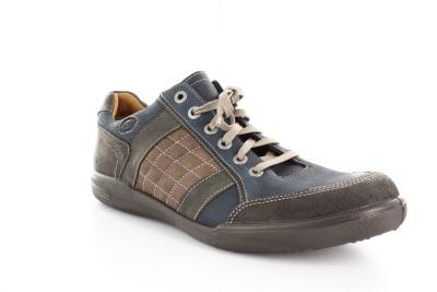 Kožne cipele za svaki dan, braon-teget kombinacija boja