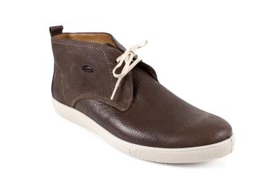 Duboke muške kožne cipele, braon