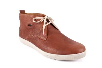 Duboke muške kožne cipele, konjak