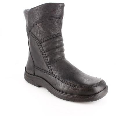 Crne kožne čizme do članka u bajkerskom stilu