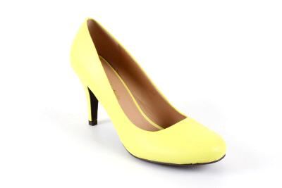 Univerzalne salonke za sve prilike u retro stilu - soft materijal, bledo žute