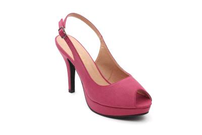 Otvorene sandale na štiklu, prljavo roze