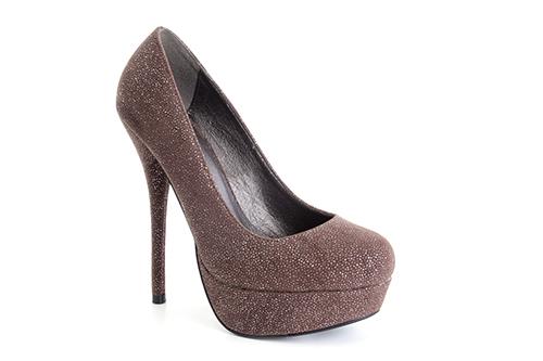 Cipele na platformu sa visokom štiklom, biserno braon