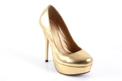 Cipele na platformu sa visokom štiklom, zlatne