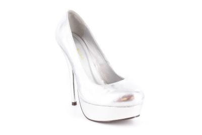Cipele na platformu sa visokom štiklom, srebrne