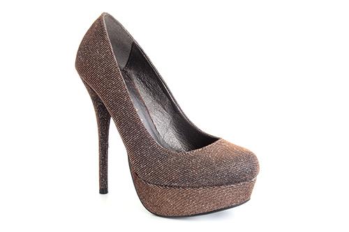 Cipele na platformu sa visokom štiklom, braon prošarane