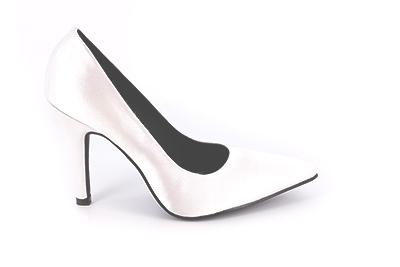 Bele saten cipele na štiklu 9,5 cm