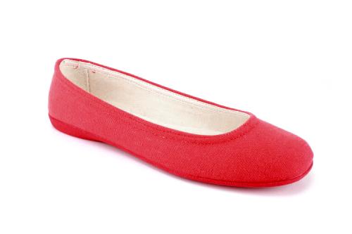 Lagane i veoma udobne baletanke sa gumenim đonom, crvene