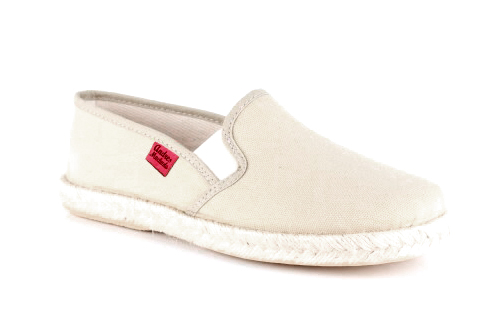 Papuče sa đonom od gume i jute, bež