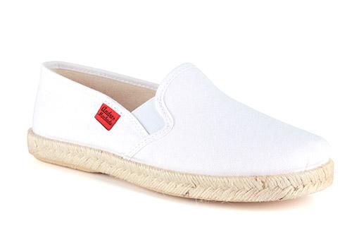 Papuče sa đonom od gume i jute, bele