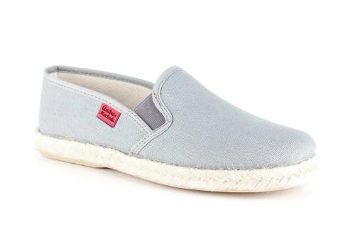 Papuče sa đonom od gume i jute, sive
