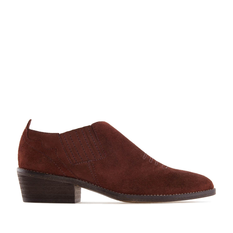 Zapato campero Serraje Granate