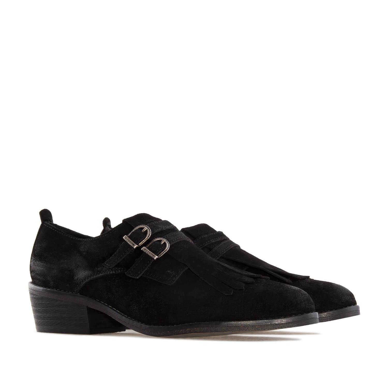 Zapato campero Serraje Negro Hebilla