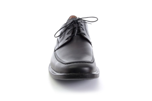 Blucher de Piel Negro con Cordones.