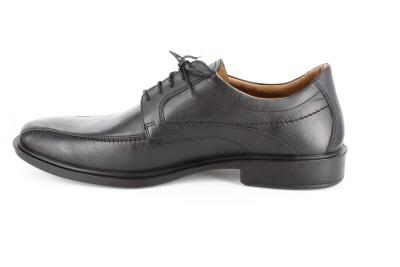 Pánská kožená společenská obuv. Černá.