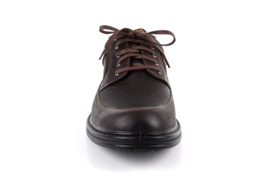 Zapato deportivo de Cuero Marrón y Cordones.