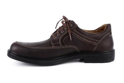 Muške kožne cipele na pertlanje, braon